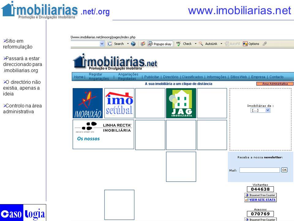 www.imobiliarias.net Sítio em reformulação