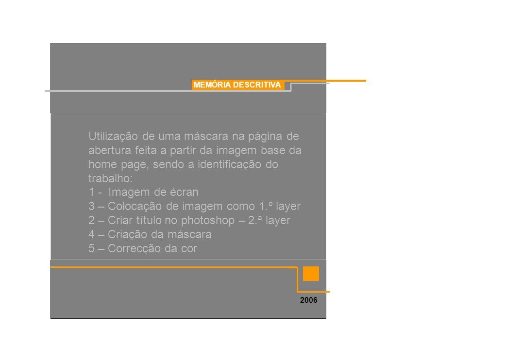 3 – Colocação de imagem como 1.º layer