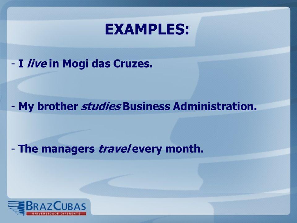 EXAMPLES: I live in Mogi das Cruzes.