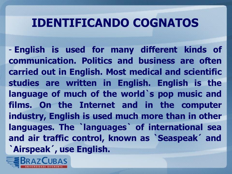 IDENTIFICANDO COGNATOS