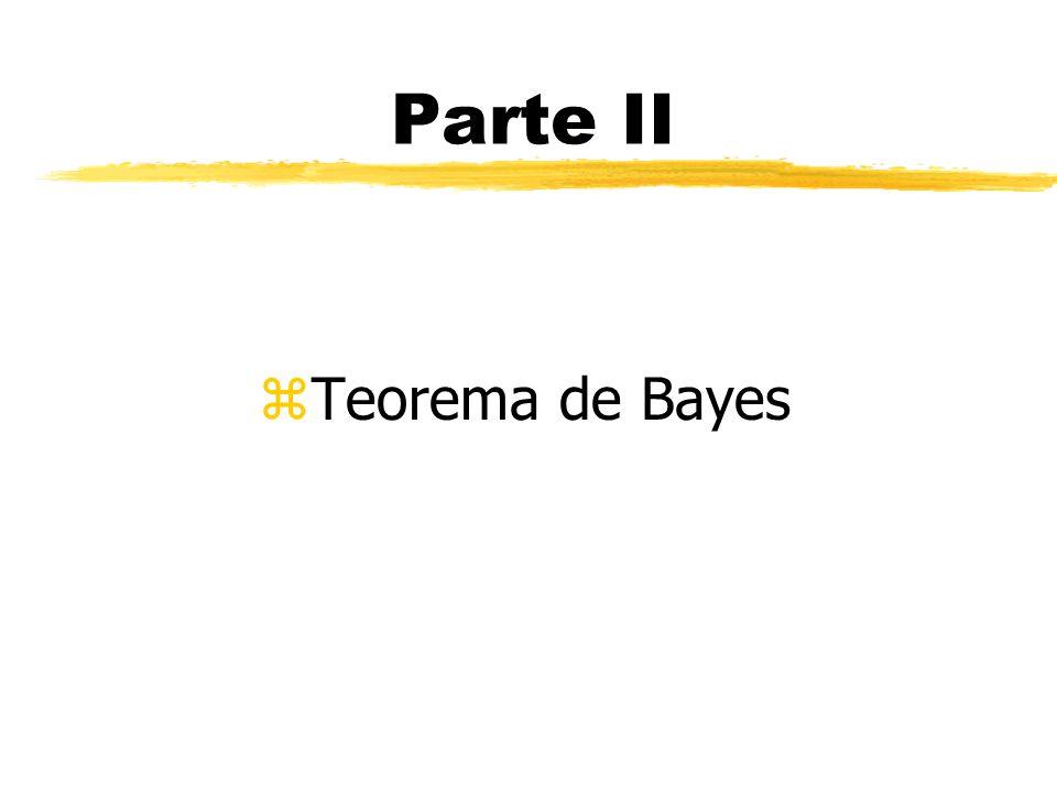Parte II Teorema de Bayes