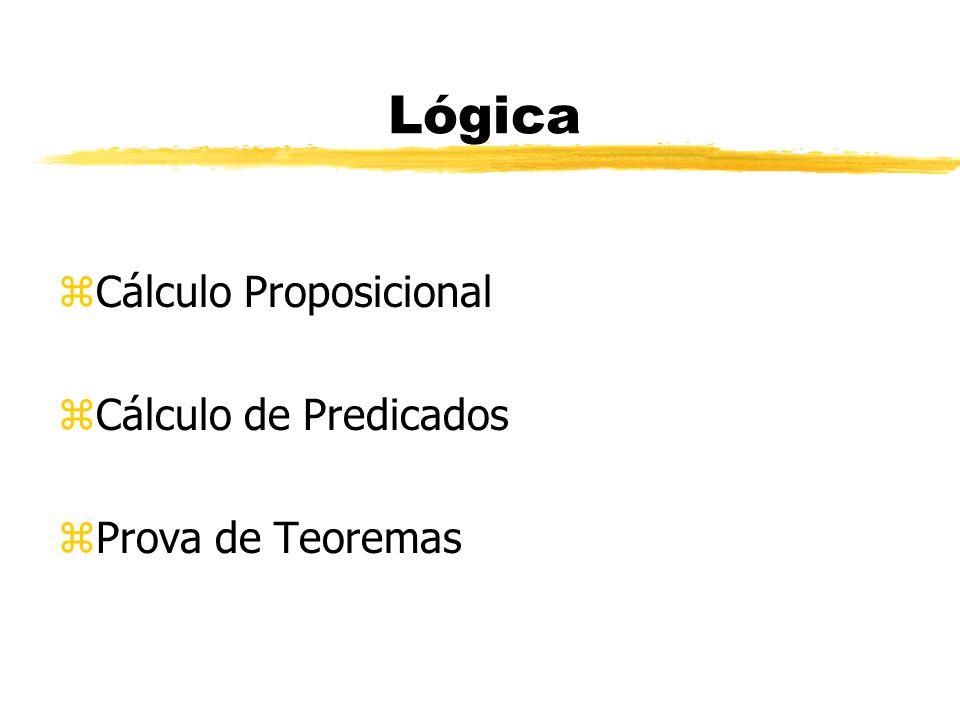 Lógica Cálculo Proposicional Cálculo de Predicados Prova de Teoremas