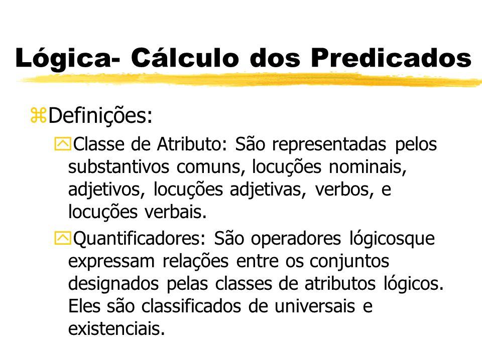 Lógica- Cálculo dos Predicados