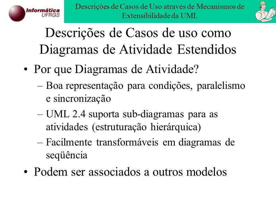 Descrições de Casos de uso como Diagramas de Atividade Estendidos