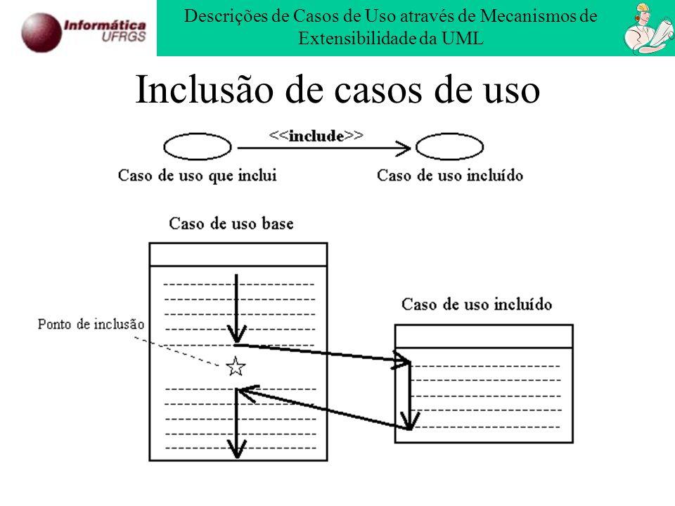 Inclusão de casos de uso