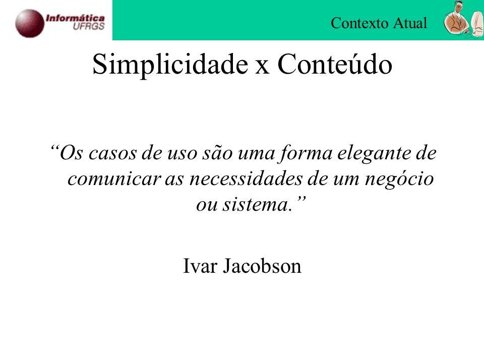Simplicidade x Conteúdo