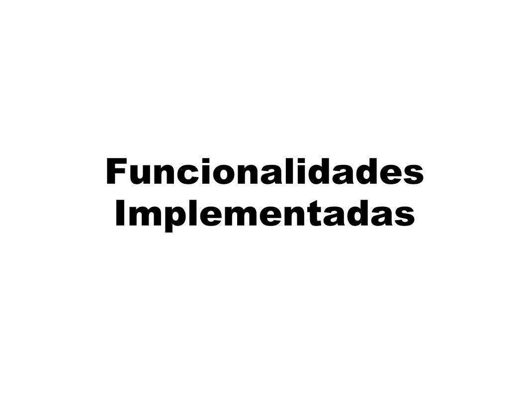 Funcionalidades Implementadas