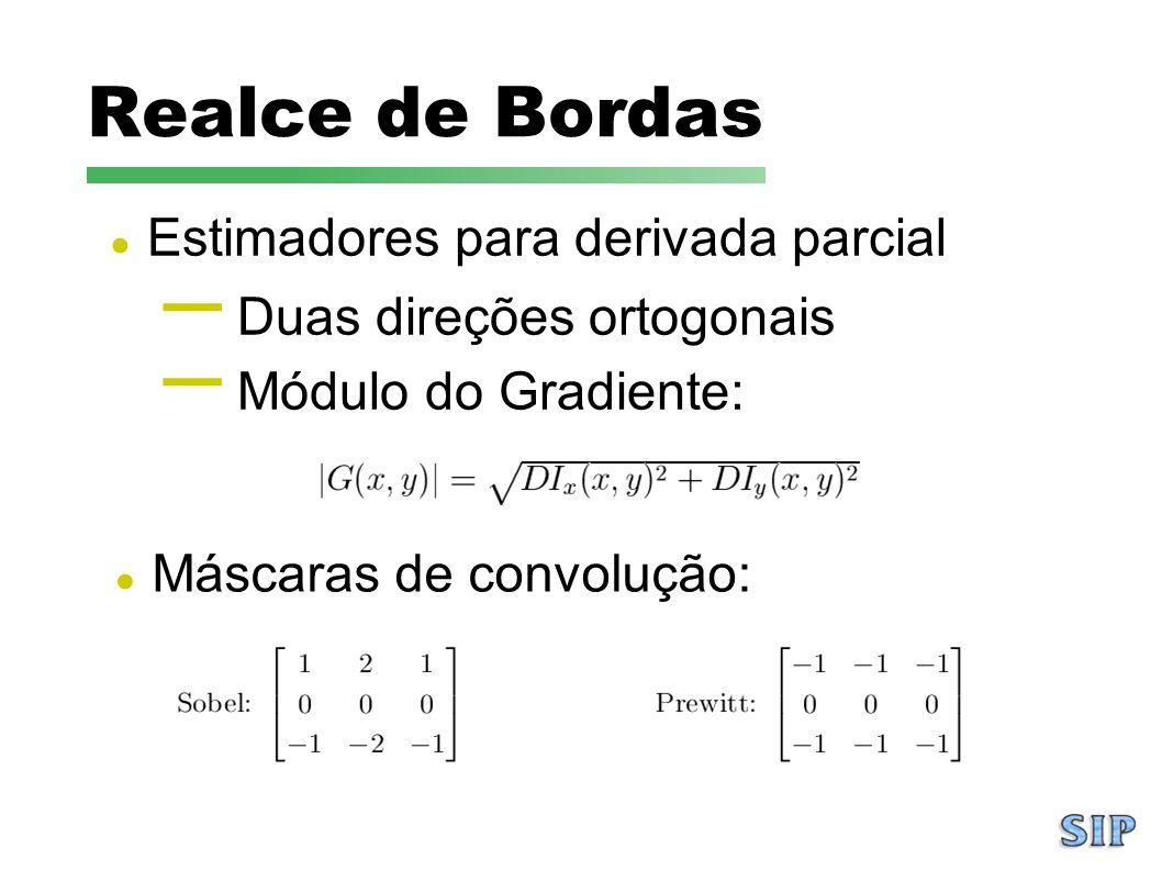 Realce de Bordas Estimadores para derivada parcial