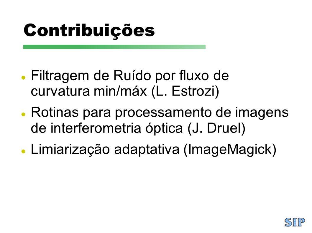 Contribuições Filtragem de Ruído por fluxo de curvatura min/máx (L. Estrozi)
