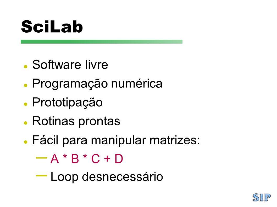 SciLab Software livre Programação numérica Prototipação