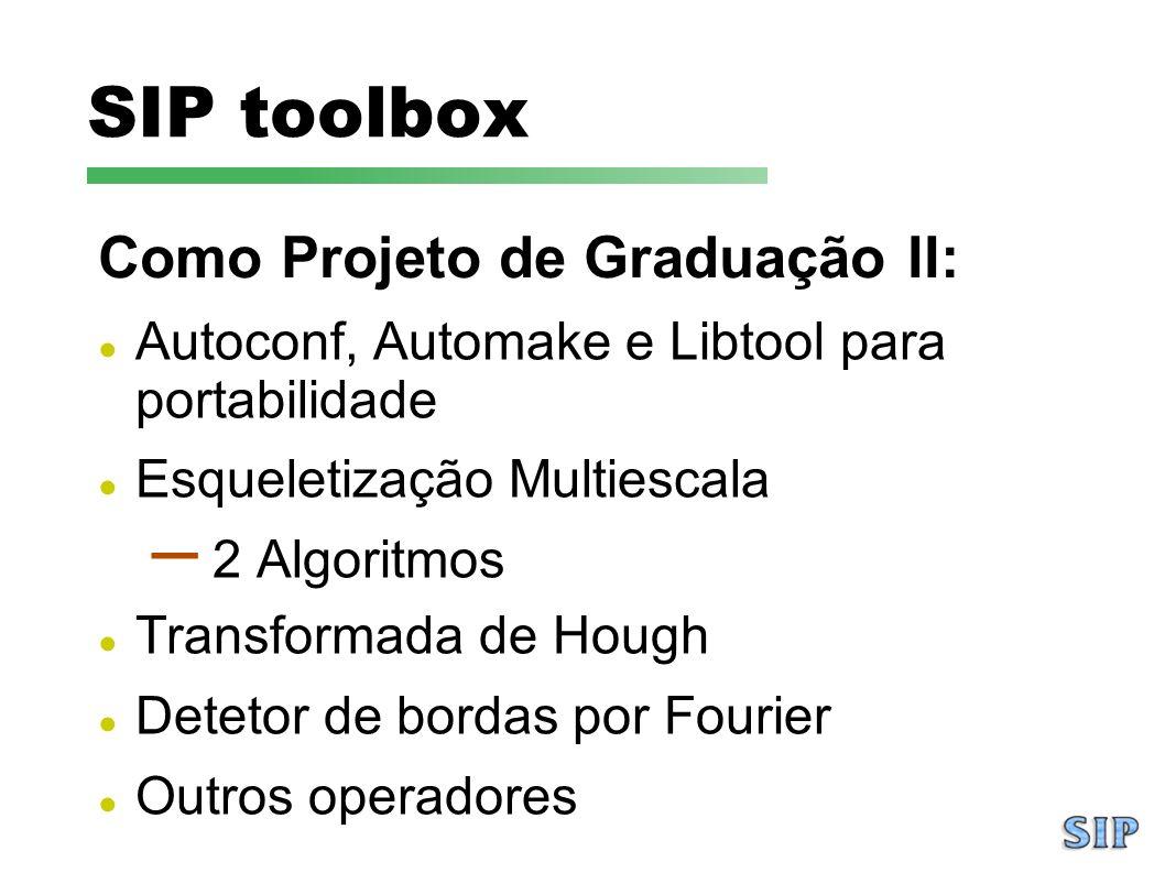 SIP toolbox Como Projeto de Graduação II: