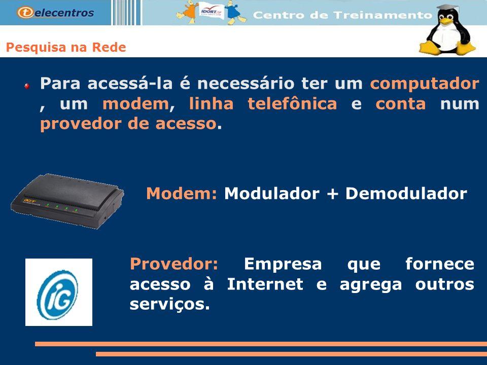 Modem: Modulador + Demodulador