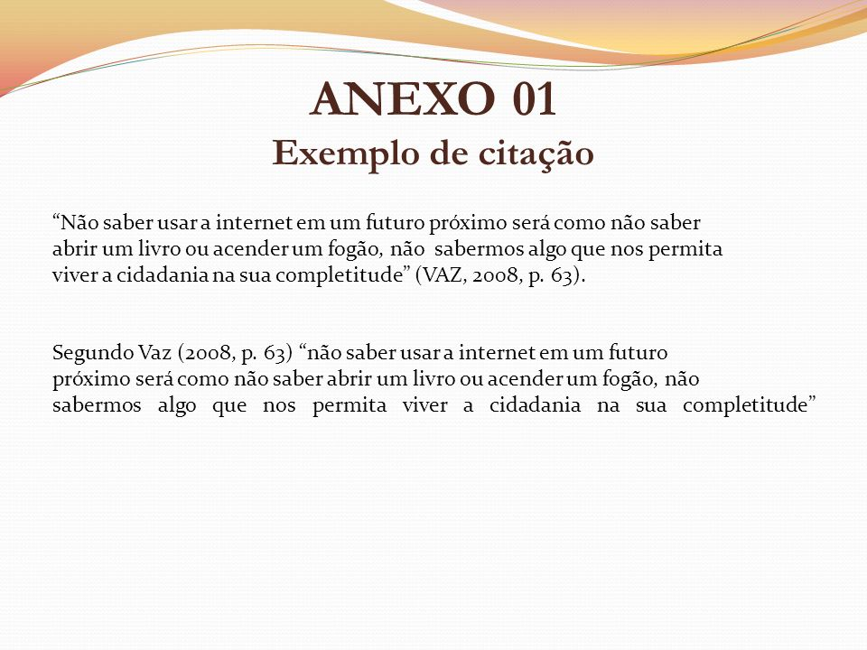 ANEXO 01 Exemplo de citação