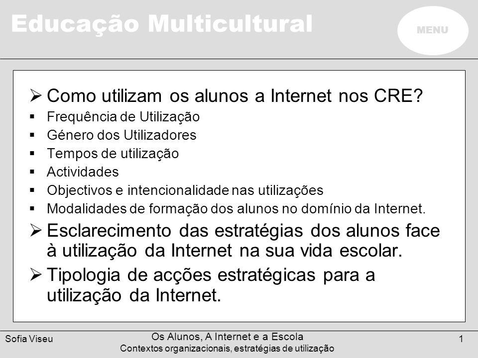 Como utilizam os alunos a Internet nos CRE