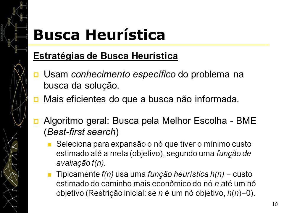 Busca Heurística Estratégias de Busca Heurística