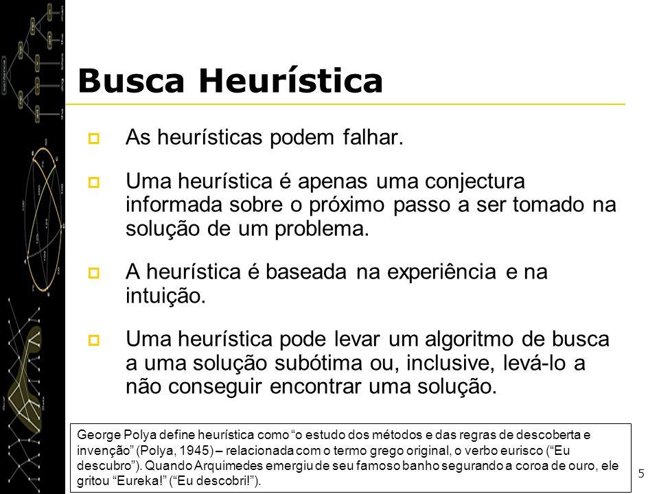 Busca Heurística As heurísticas podem falhar.