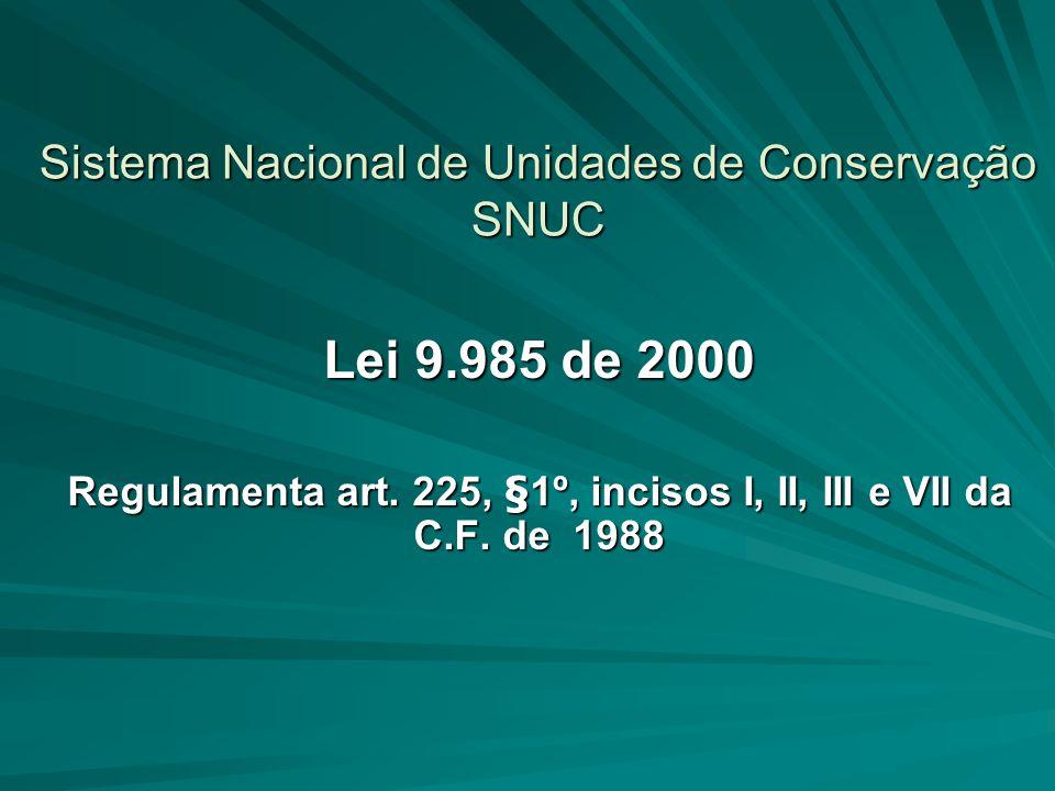 Sistema Nacional de Unidades de Conservação SNUC
