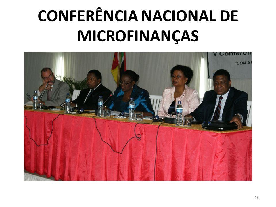 CONFERÊNCIA NACIONAL DE MICROFINANÇAS