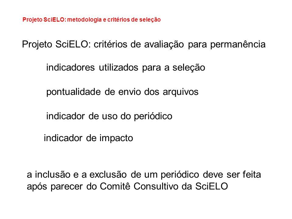 Projeto SciELO: critérios de avaliação para permanência
