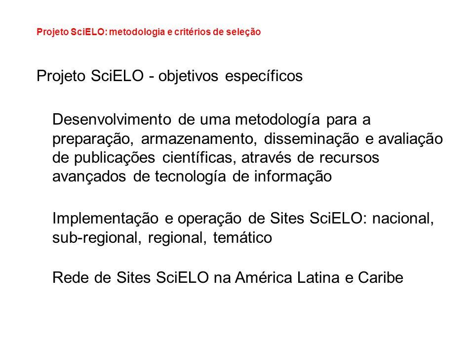 Projeto SciELO - objetivos específicos
