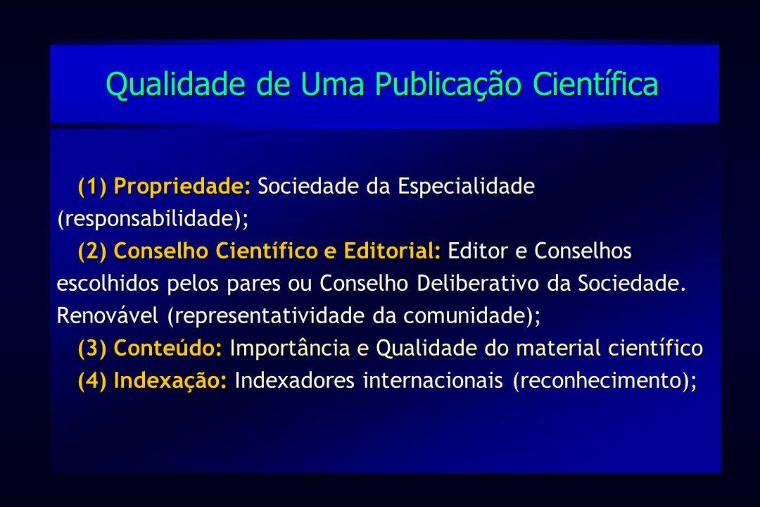 Qualidade de Uma Publicação Científica