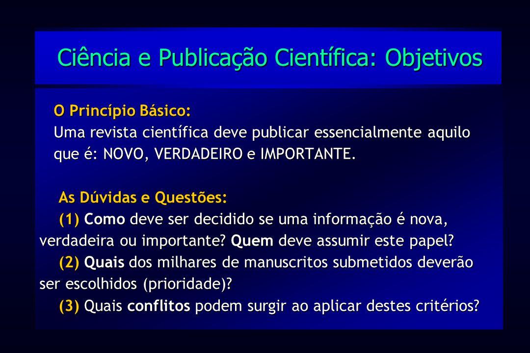 Ciência e Publicação Científica: Objetivos