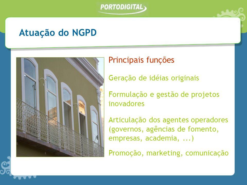 Atuação do NGPD Principais funções Geração de idéias originais