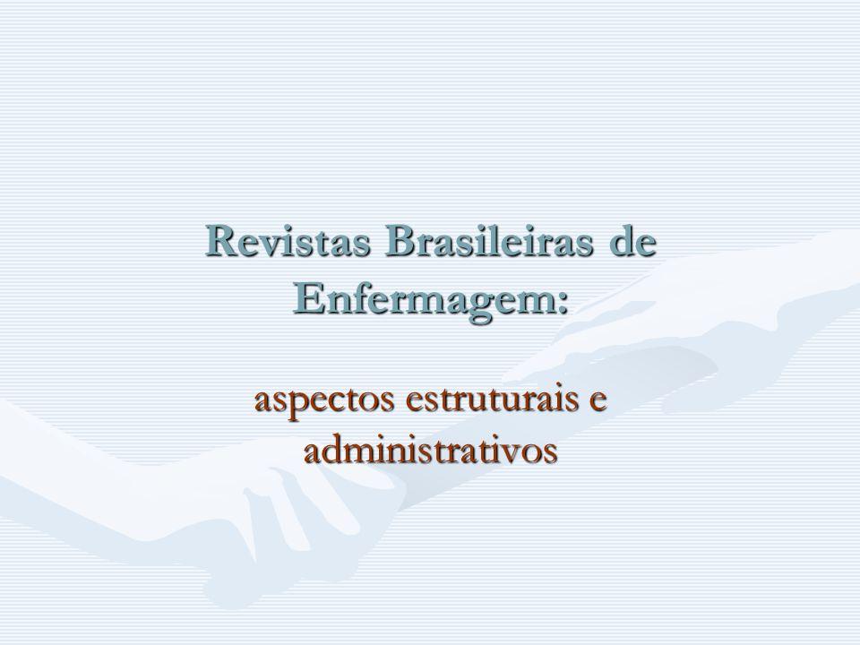 Revistas Brasileiras de Enfermagem: