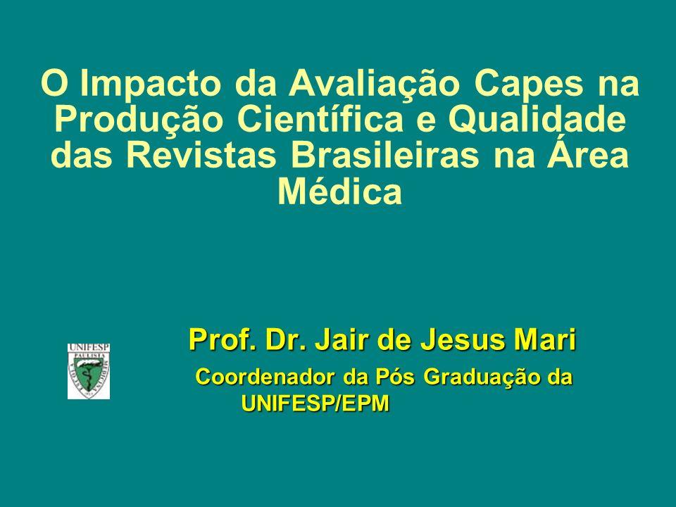 O Impacto da Avaliação Capes na Produção Científica e Qualidade das Revistas Brasileiras na Área Médica