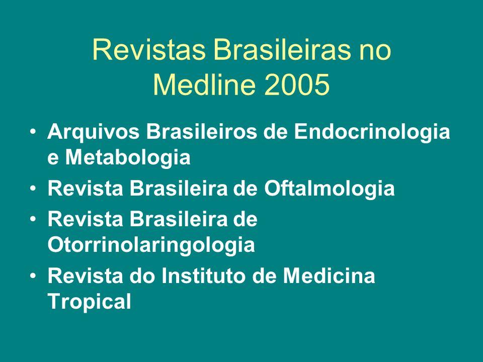 Revistas Brasileiras no Medline 2005