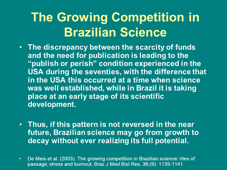 The Growing Competition in Brazilian Science