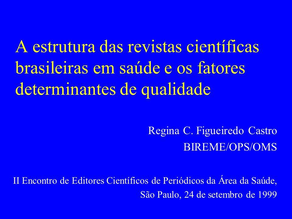 A estrutura das revistas científicas brasileiras em saúde e os fatores determinantes de qualidade