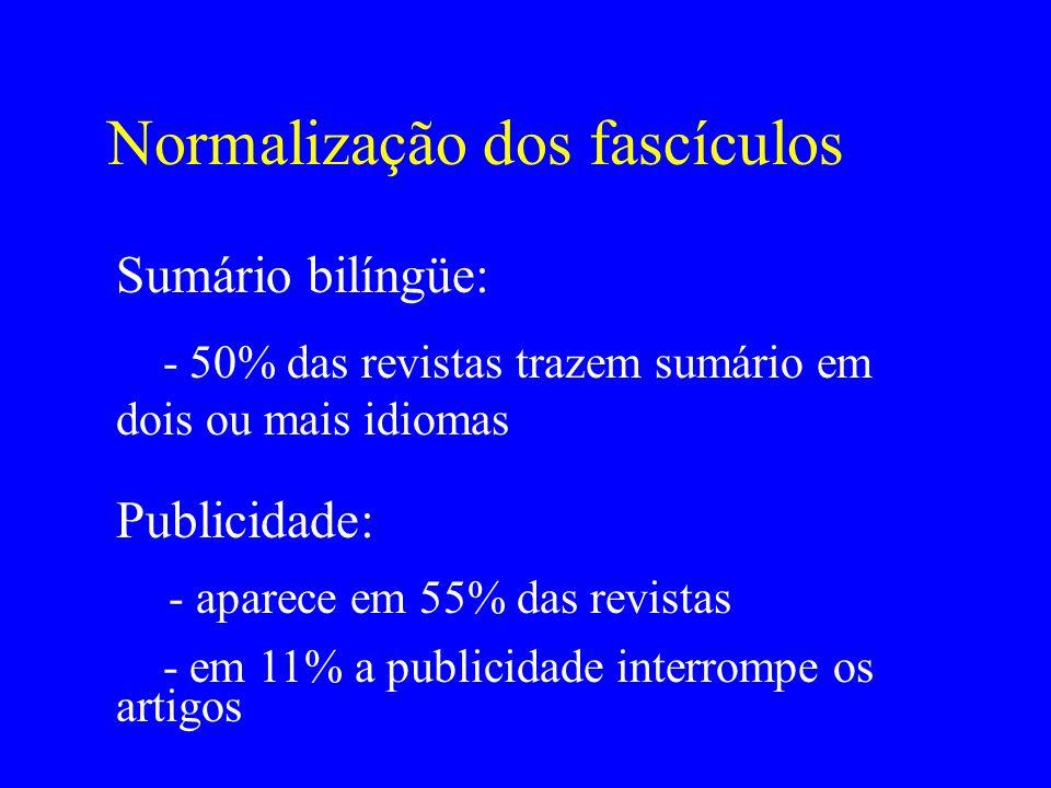 Normalização dos fascículos