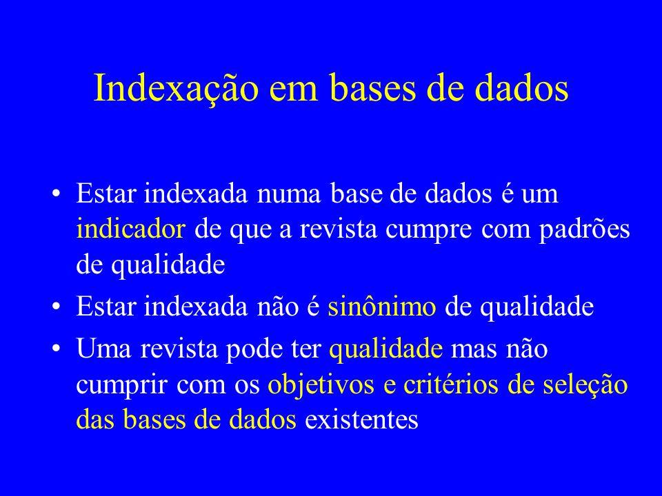 Indexação em bases de dados