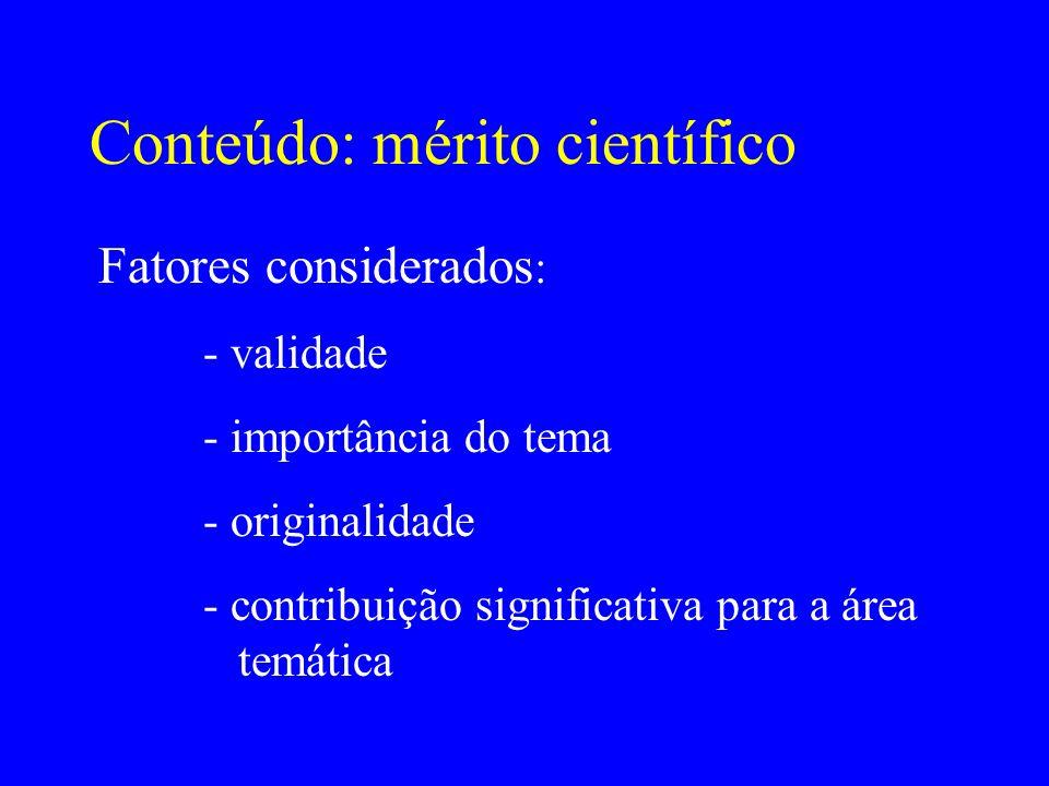 Conteúdo: mérito científico