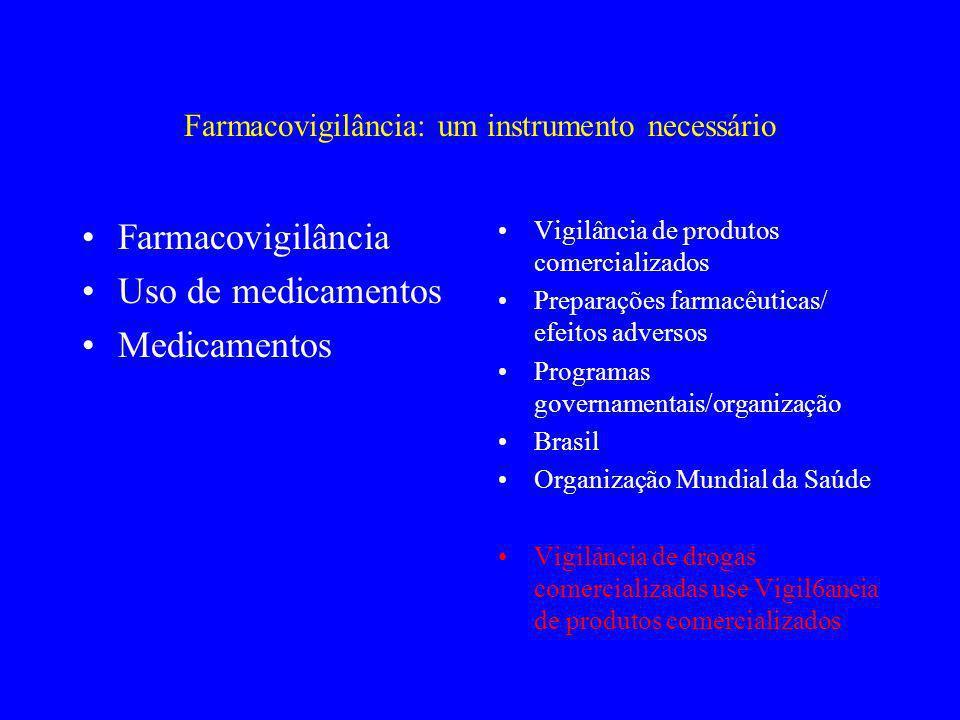 Farmacovigilância: um instrumento necessário