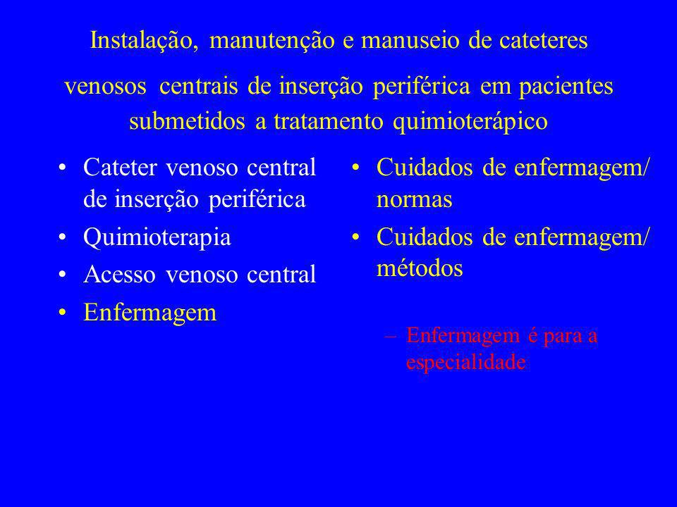 Cateter venoso central de inserção periférica Quimioterapia