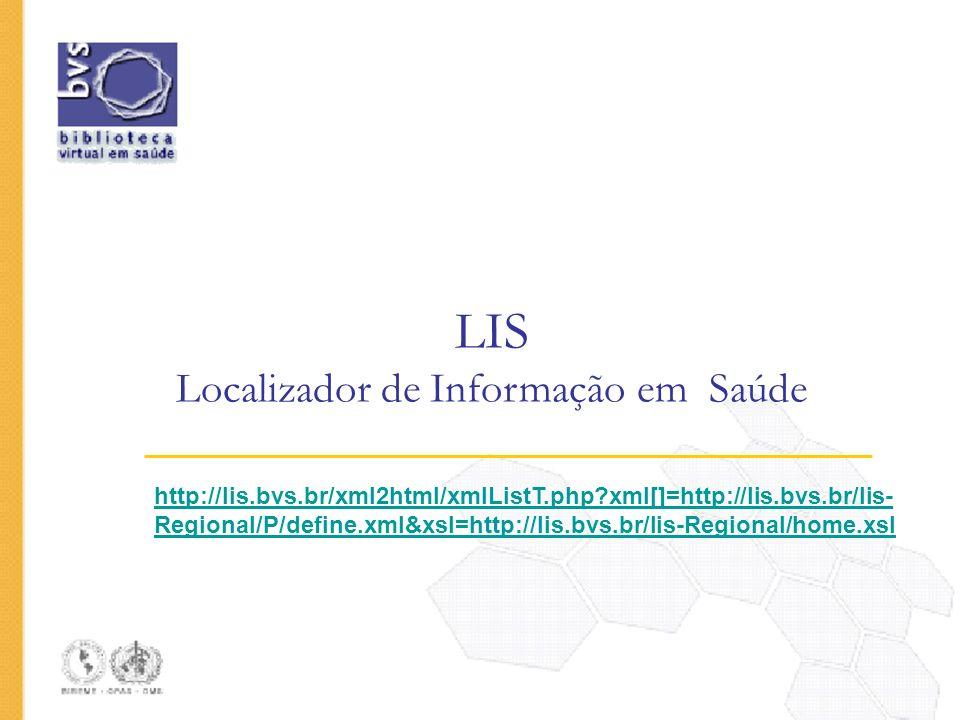 LIS Localizador de Informação em Saúde
