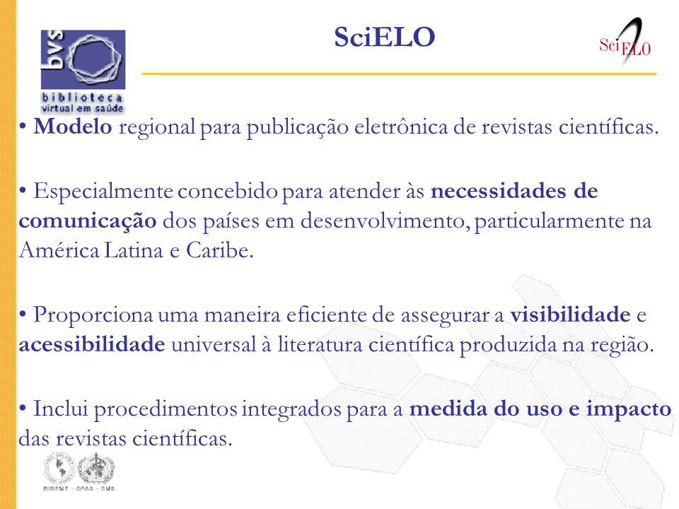 SciELO Modelo regional para publicação eletrônica de revistas científicas.