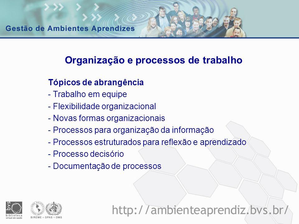 Organização e processos de trabalho
