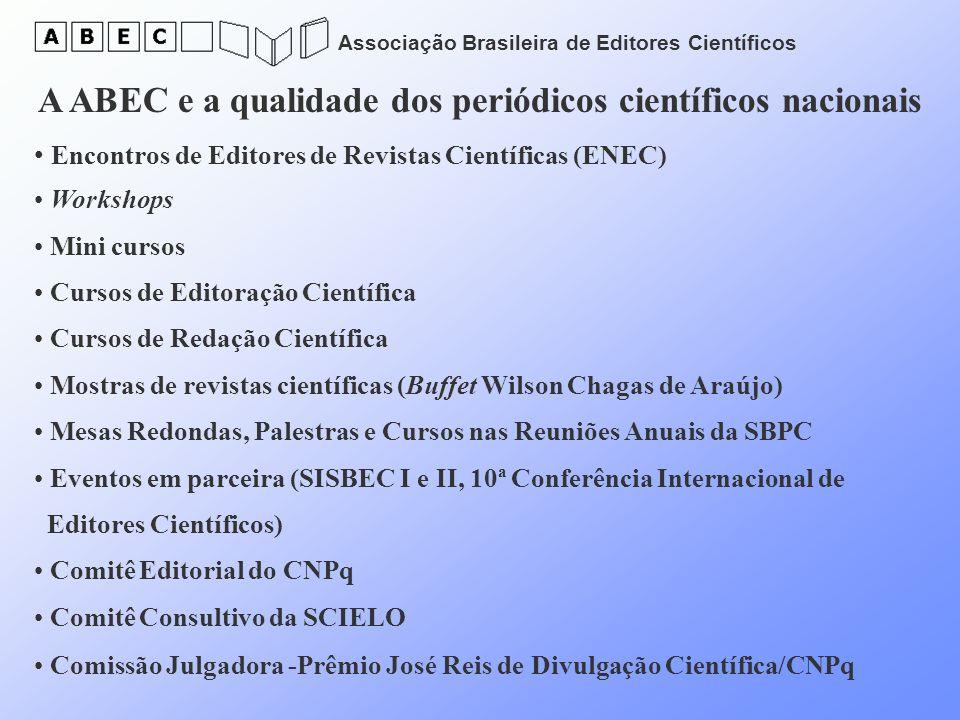 A ABEC e a qualidade dos periódicos científicos nacionais