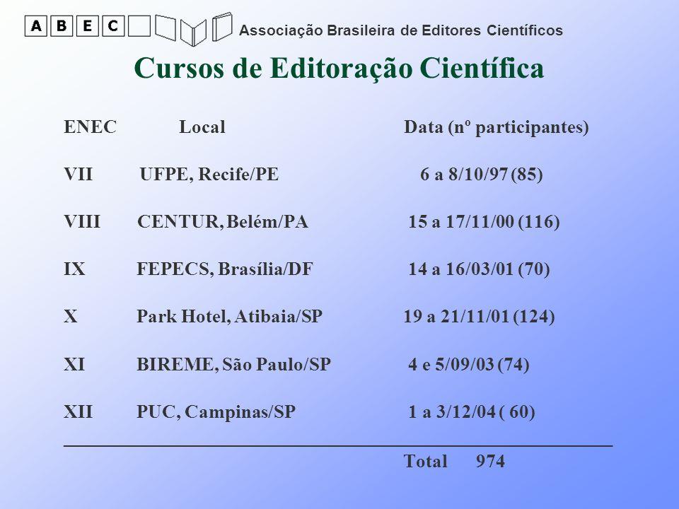 Cursos de Editoração Científica