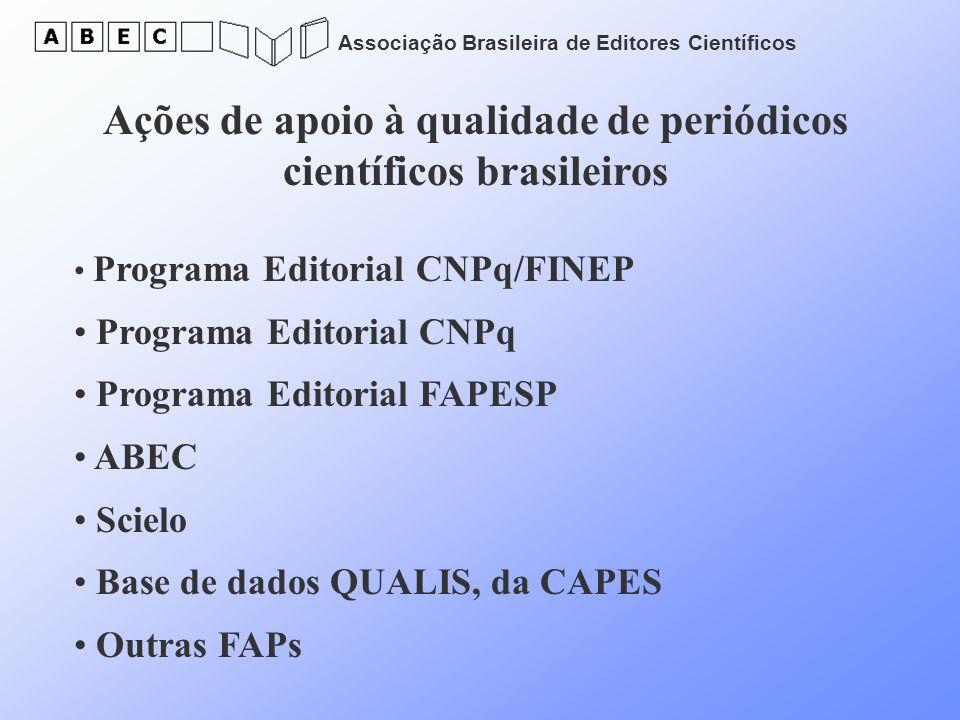 Ações de apoio à qualidade de periódicos científicos brasileiros