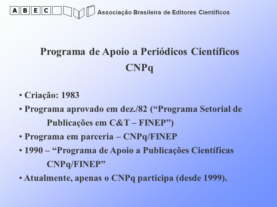 Programa de Apoio a Periódicos Científicos