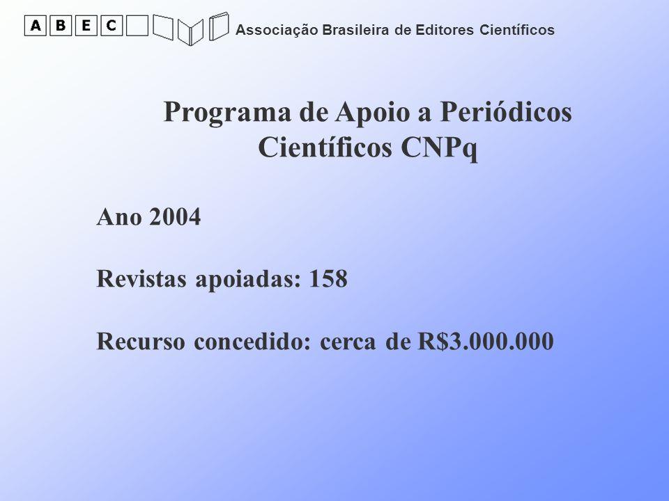 Programa de Apoio a Periódicos Científicos CNPq