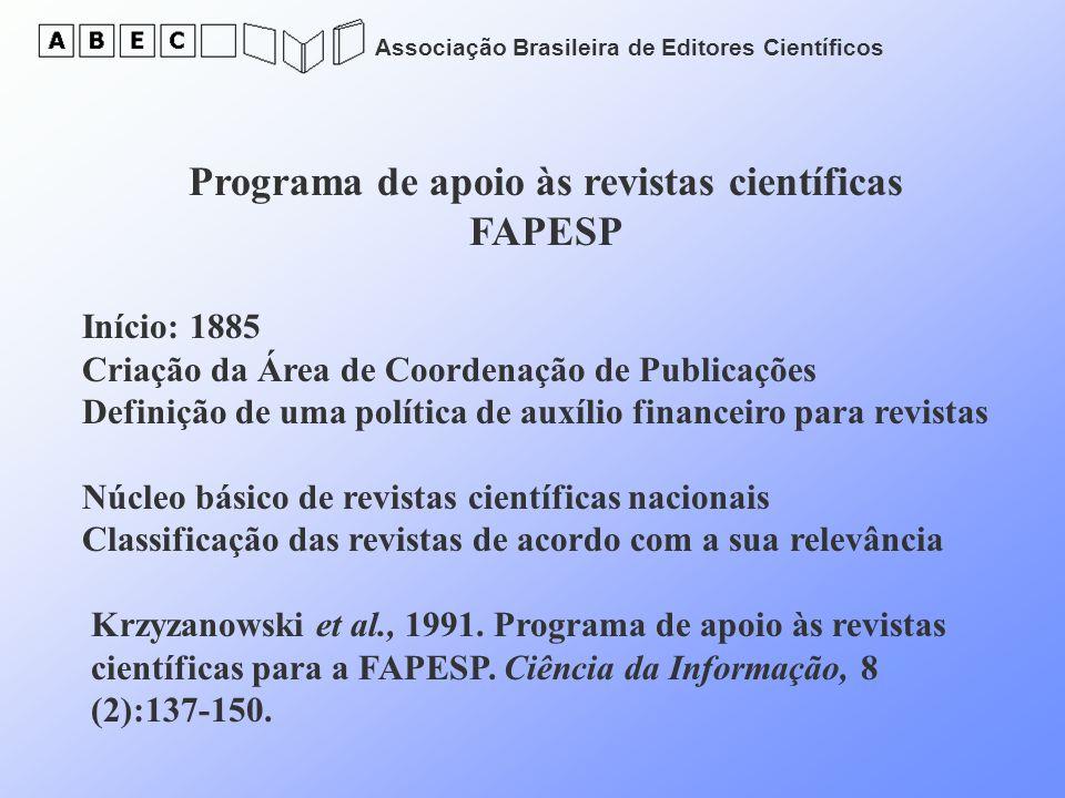 Programa de apoio às revistas científicas