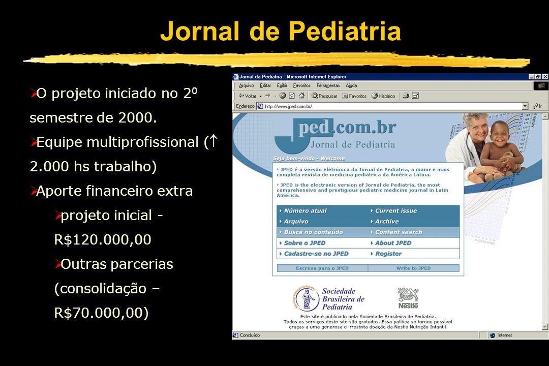 Jornal de Pediatria O projeto iniciado no 20 semestre de 2000.