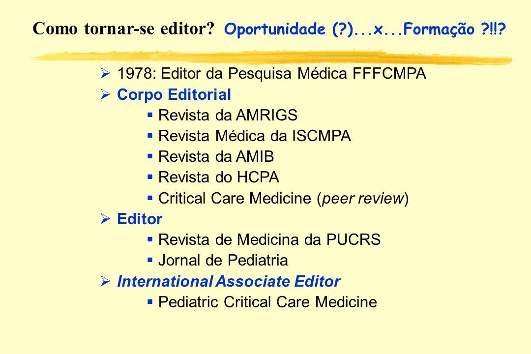 Como tornar-se editor Oportunidade ( )...x...Formação !!