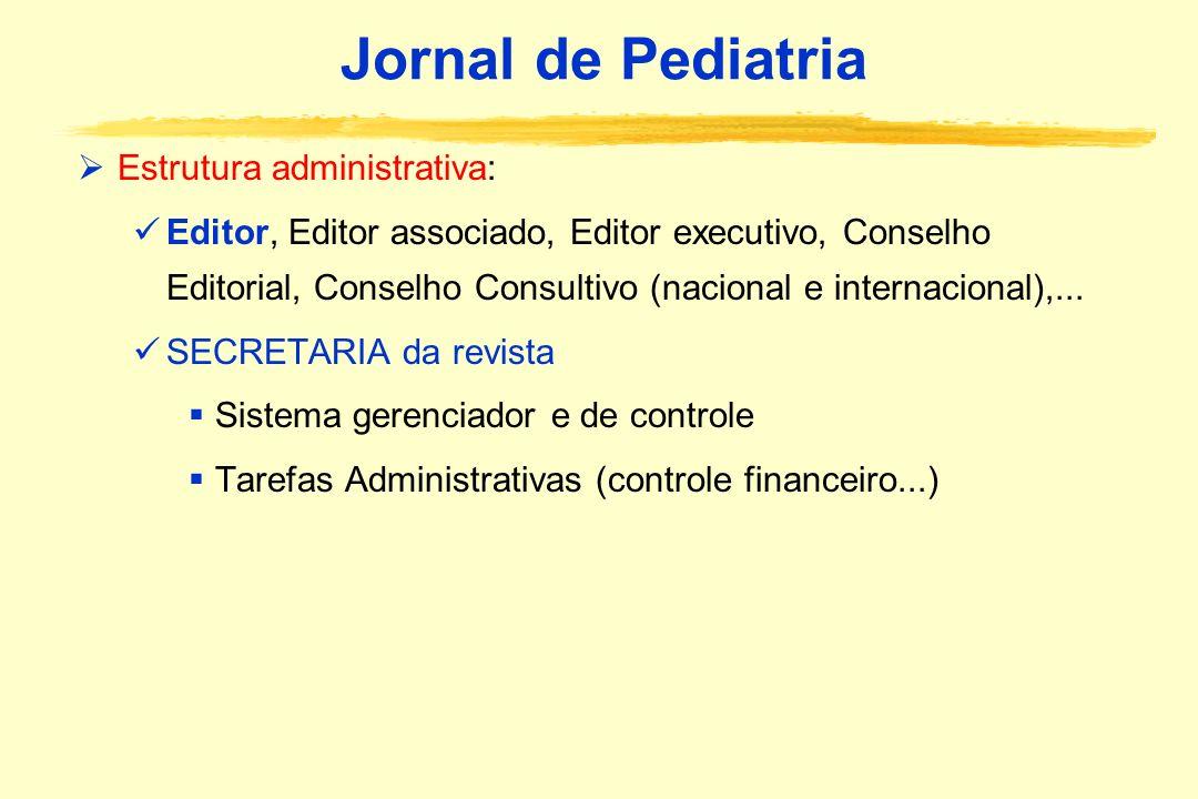 Jornal de Pediatria Estrutura administrativa:
