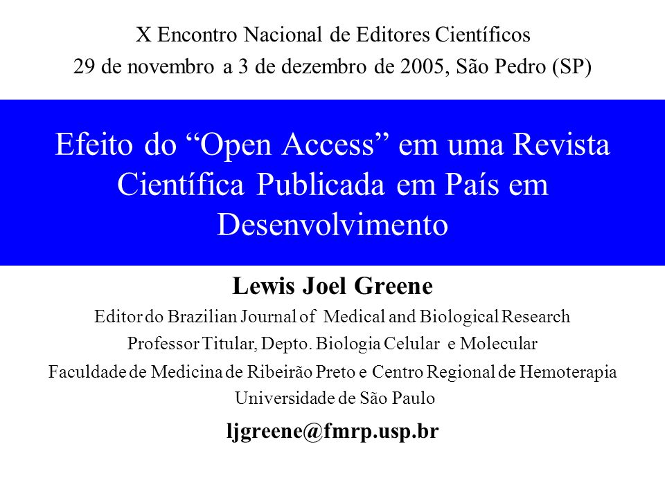 X Encontro Nacional de Editores Científicos